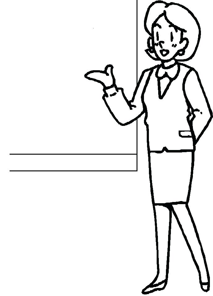 688x957 Excellent Teacher Coloring Page Best Coloring Unknown Free