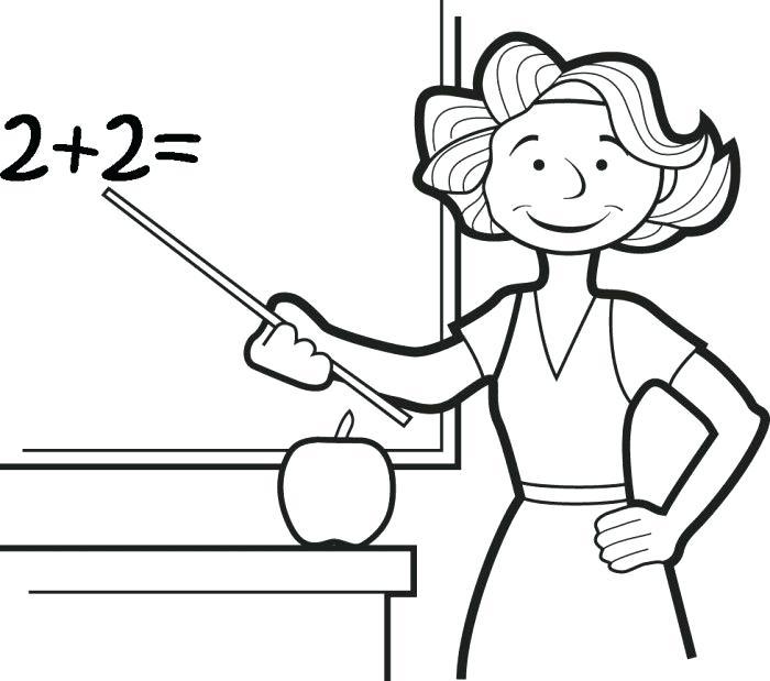 700x619 Teacher Coloring Pages Modest Teacher Coloring Page Top Kids