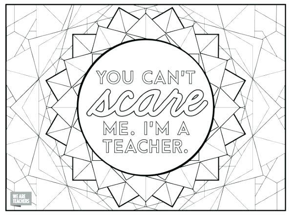 600x450 Teacher Coloring Pages Teacher Coloring Pages Because Teachers Are