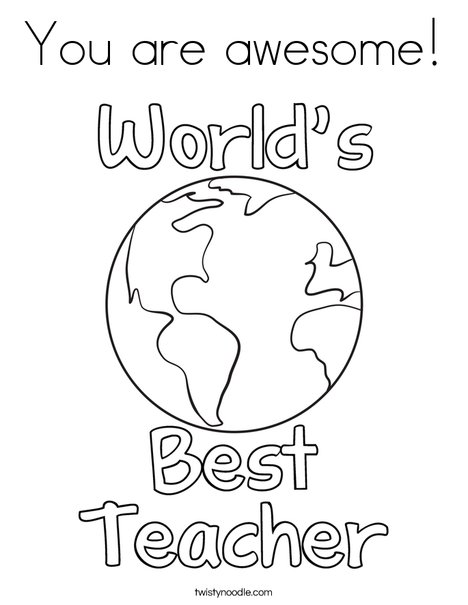 468x605 You Are Awesome Coloring Page