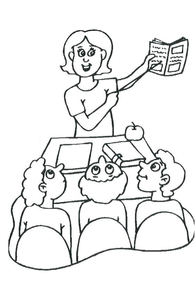 640x973 Teacher Coloring Pages