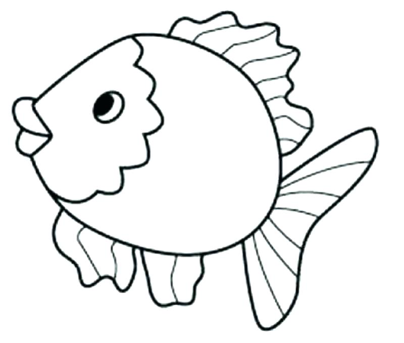 800x680 Fishes Coloring Pages Fish Pictures To Color Small Fish Coloring