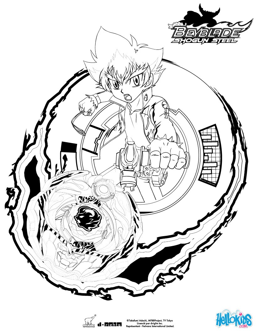 820x1060 Beyblade Coloring Pages