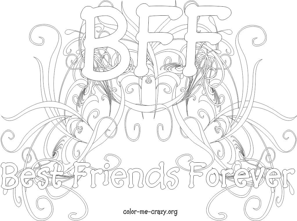 1023x761 Bff Coloring Pages For Girls Me