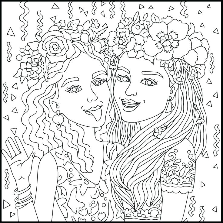 736x734 Bff Coloring Pages Animals Coloring Pages For Girls Cure Print