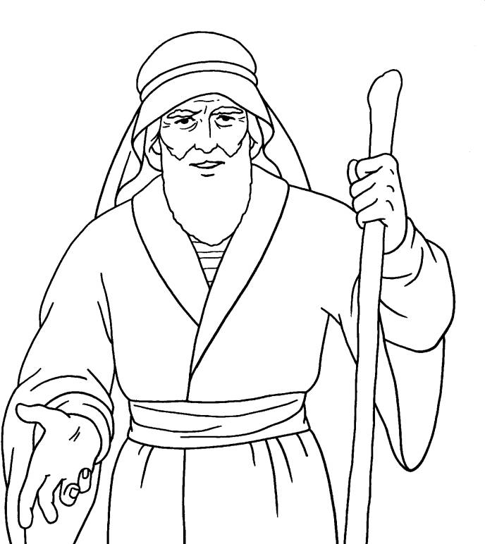 688x772 Free Printable Bible Characters Moses Moses Coloring Pages Free