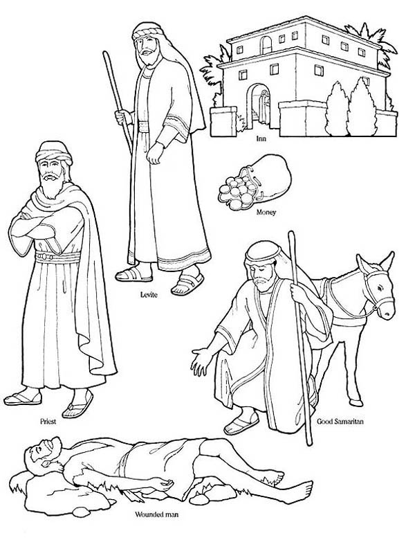 600x780 Good Samaritan Character In The Bible Coloring Page