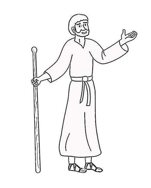 500x621 Bible Character Coloring Pages