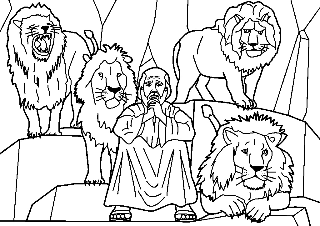 1024x723 Bible Character Coloring Pages Printable Color Bros