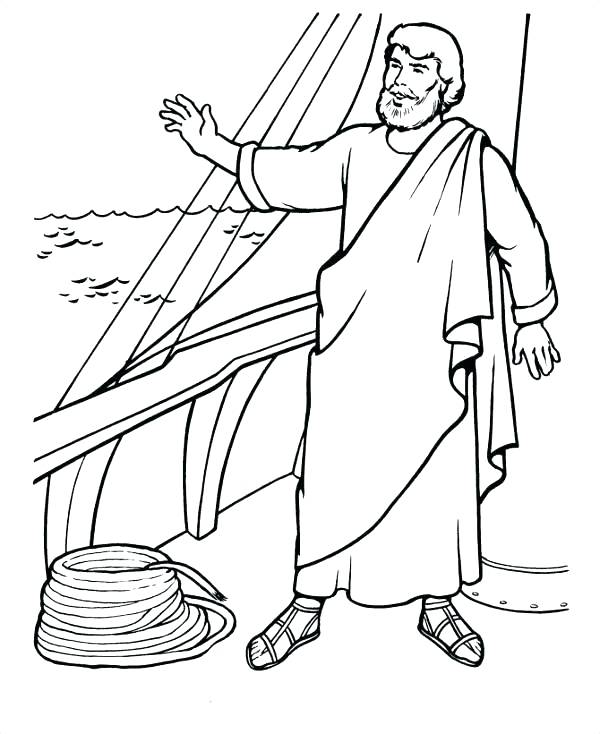 600x734 Bible Character Coloring Pages
