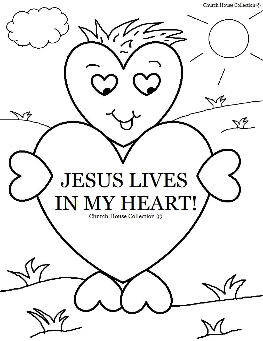 1019x1319 Church House Collection Blog Jesus Lives In My Heart Coloring