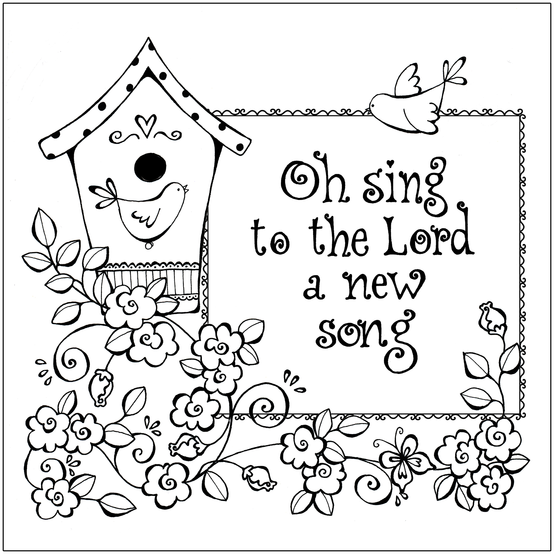 2250x2250 Free Printable Christian Coloring Pages For Kids