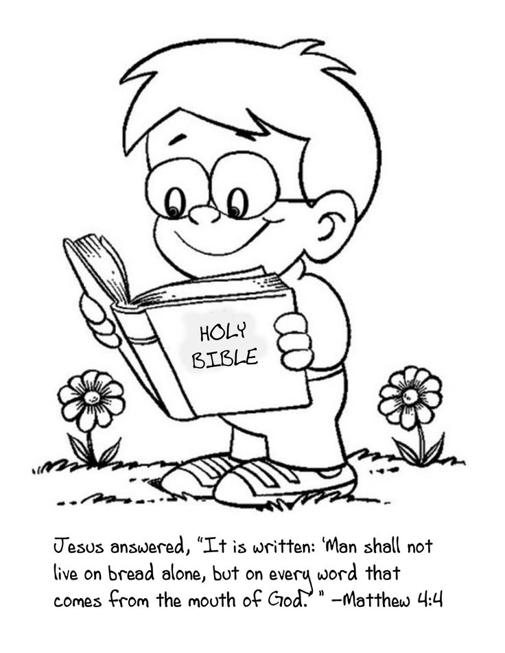 736x952 Coloring Pages Child Reading Bible At The Bible Coloring Page