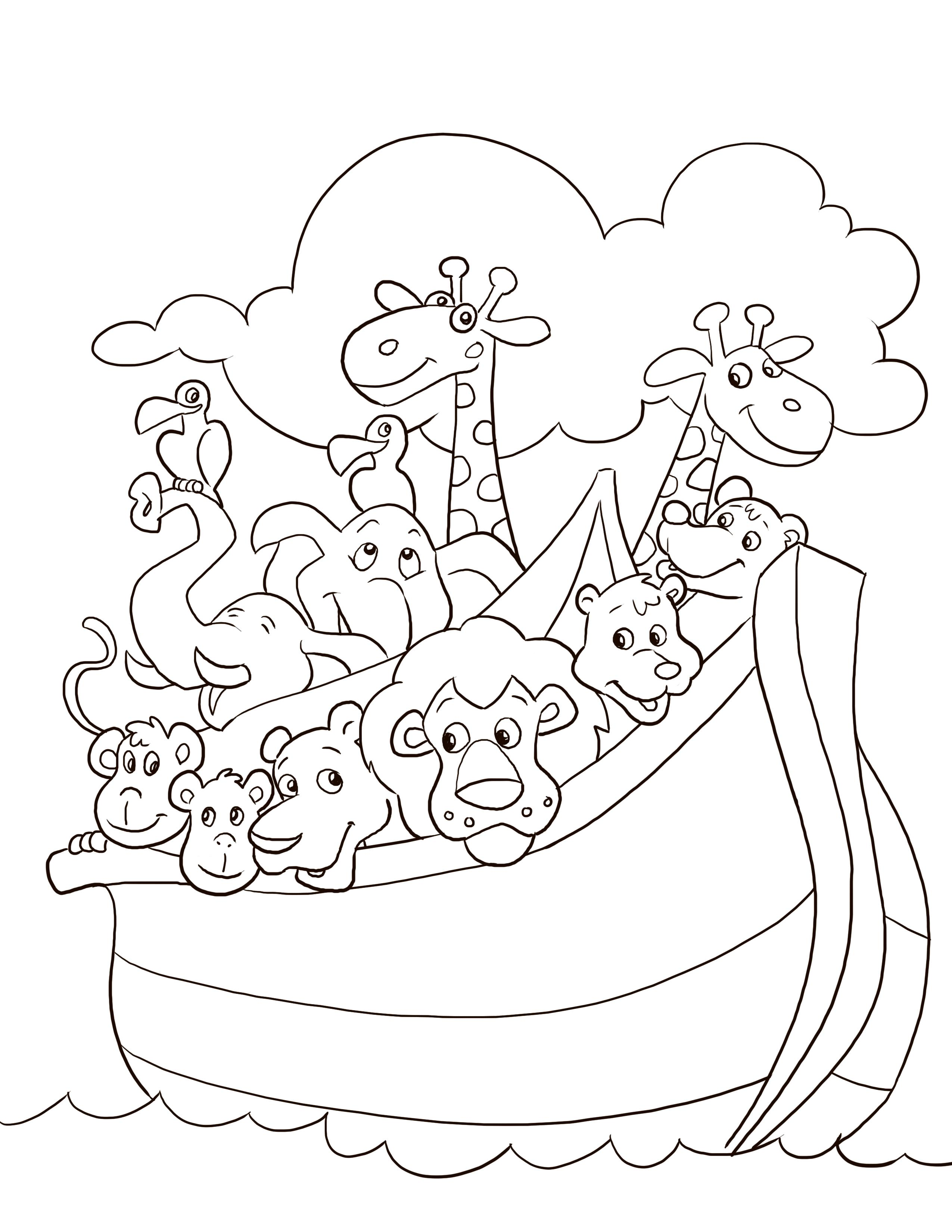 2550x3300 Simple Bible Coloring Pages For Toddlers