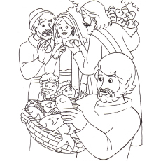 230x230 Bible Story Coloring Pages Spectacular Idea