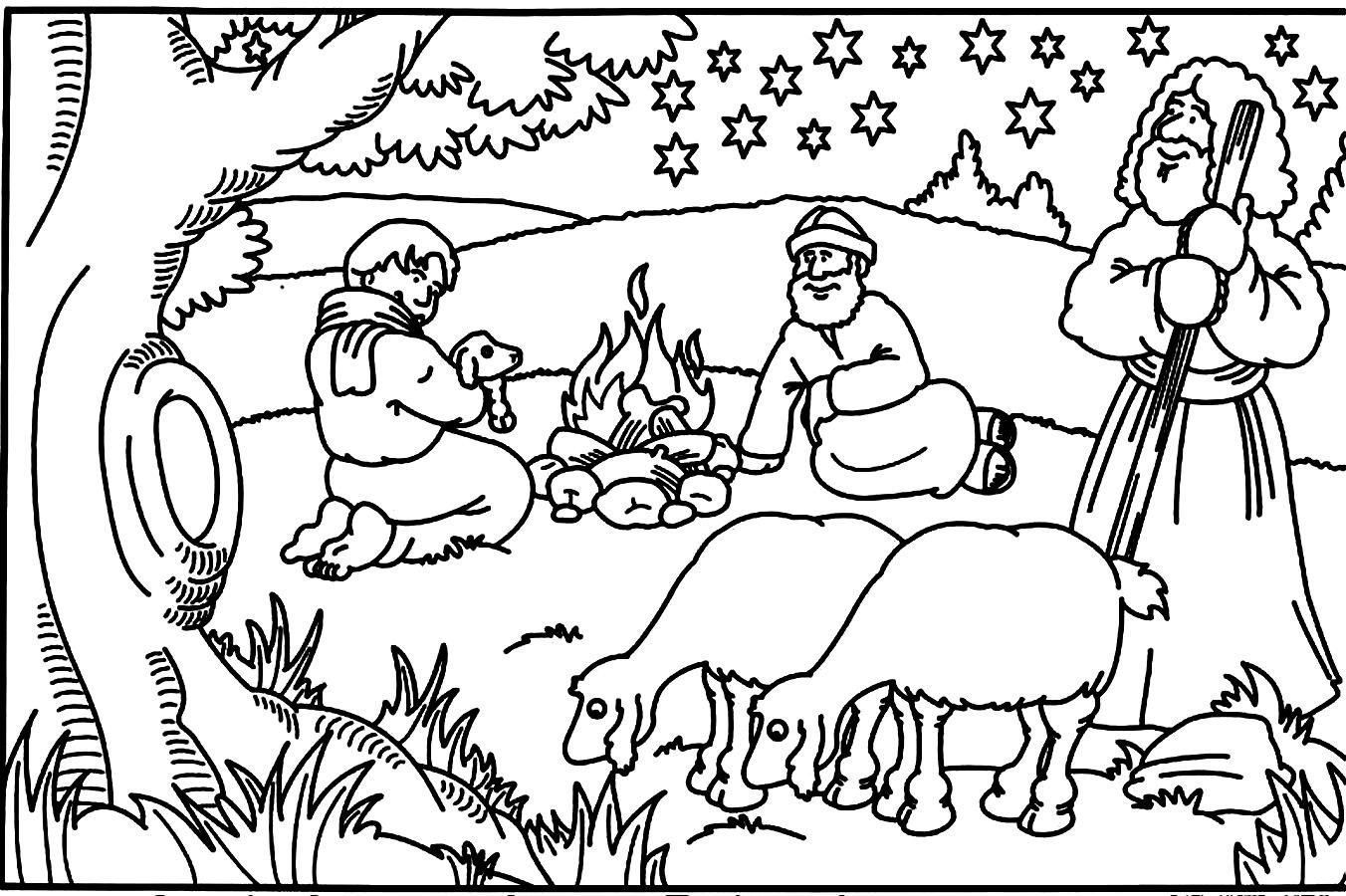 1352x900 Cool Coloring Pages For Children S Bible Stories Free Coloring
