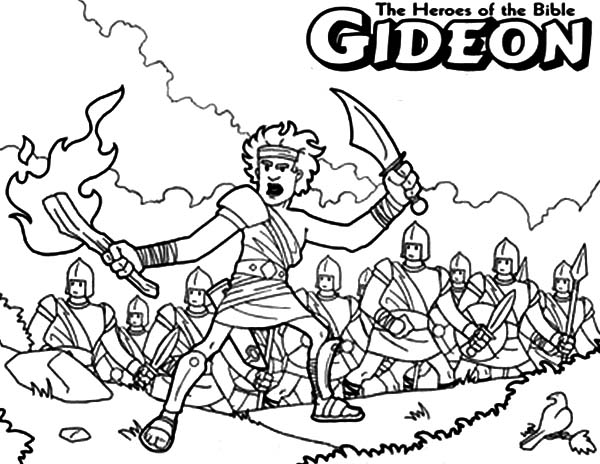 600x464 Gideon The Bible Heroes Coloring Page