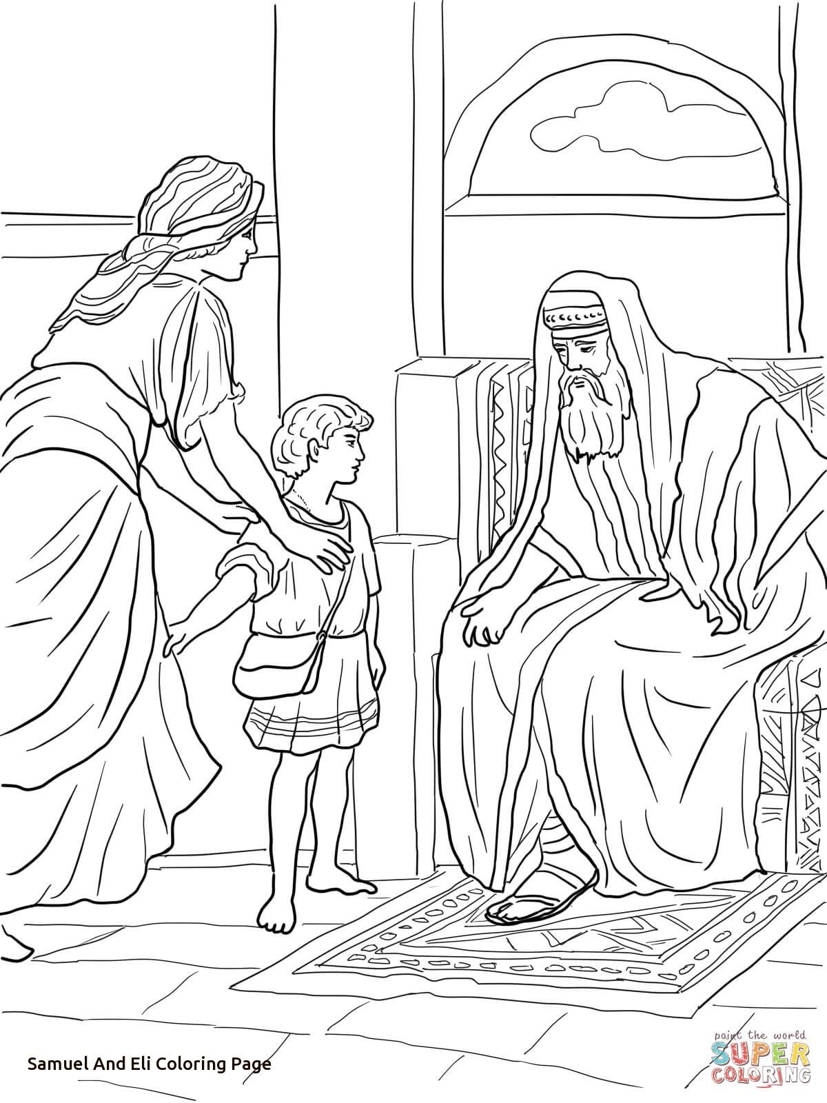 1200x1600 Marvelous Samuel Bible Story Coloring Page For And Eli Pics Style