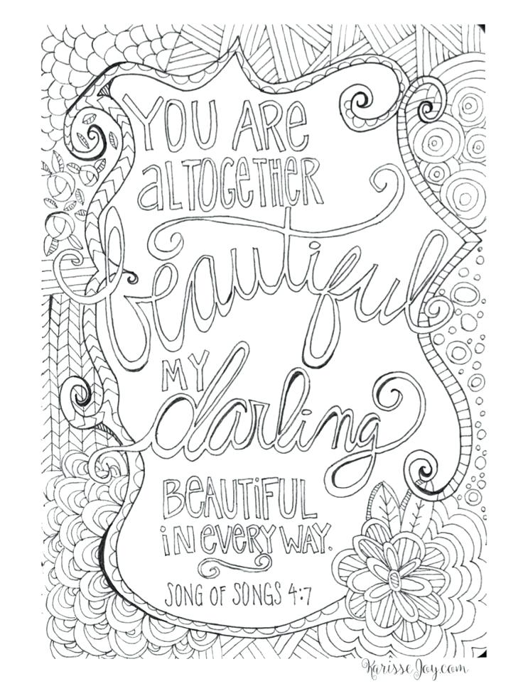Bible Verse Coloring Pages For Adults At GetDrawings Free Download