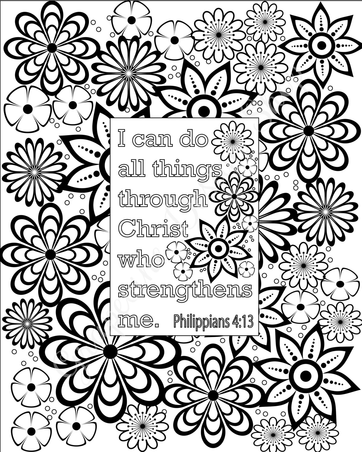 1200x1500 Flower Coloring Pages Bible Verse Coloring Sheets Set