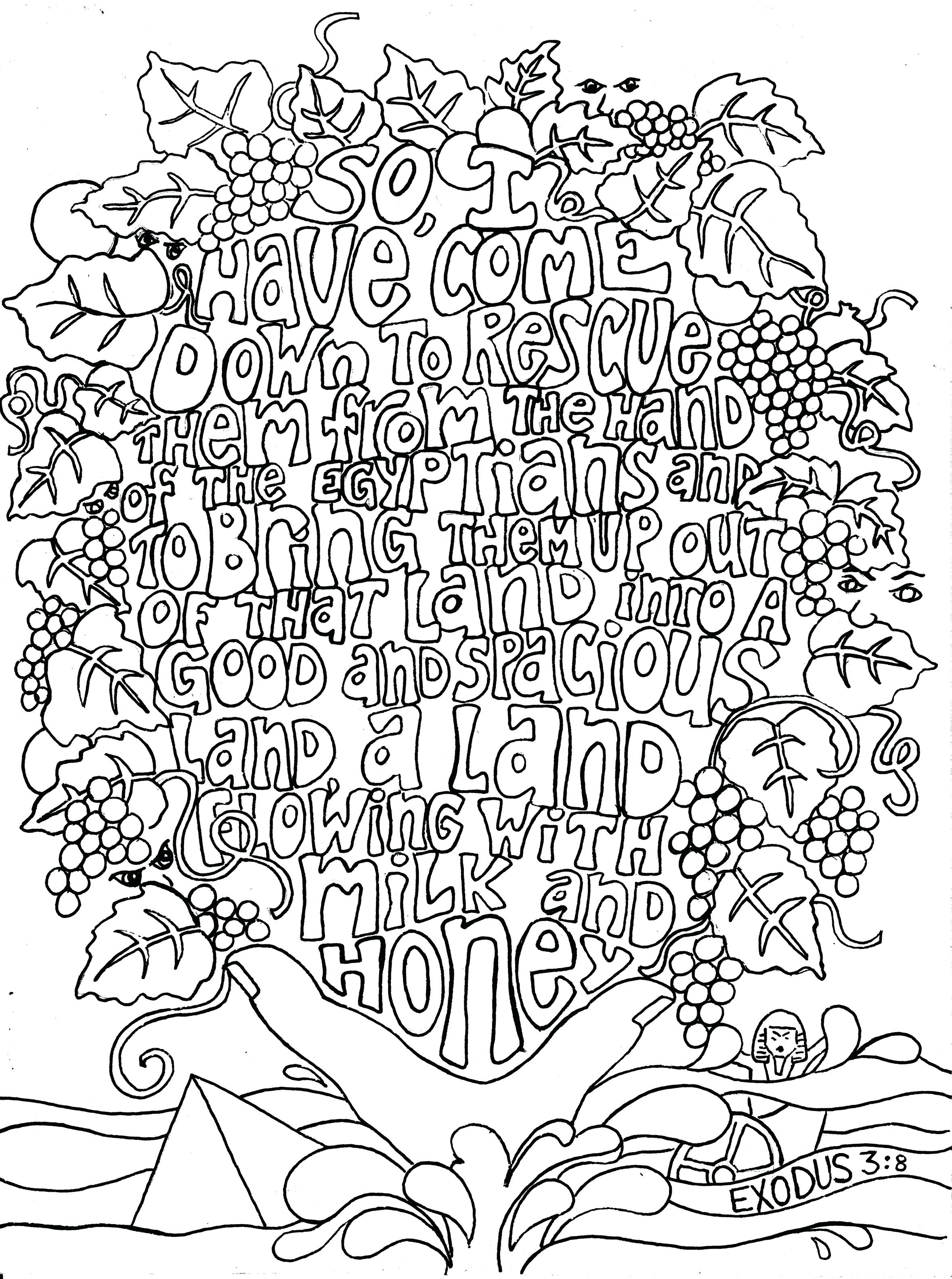 graphic regarding Free Printable Bible Verse Coloring Pages identified as Bible Verse Coloring Internet pages For Older people at