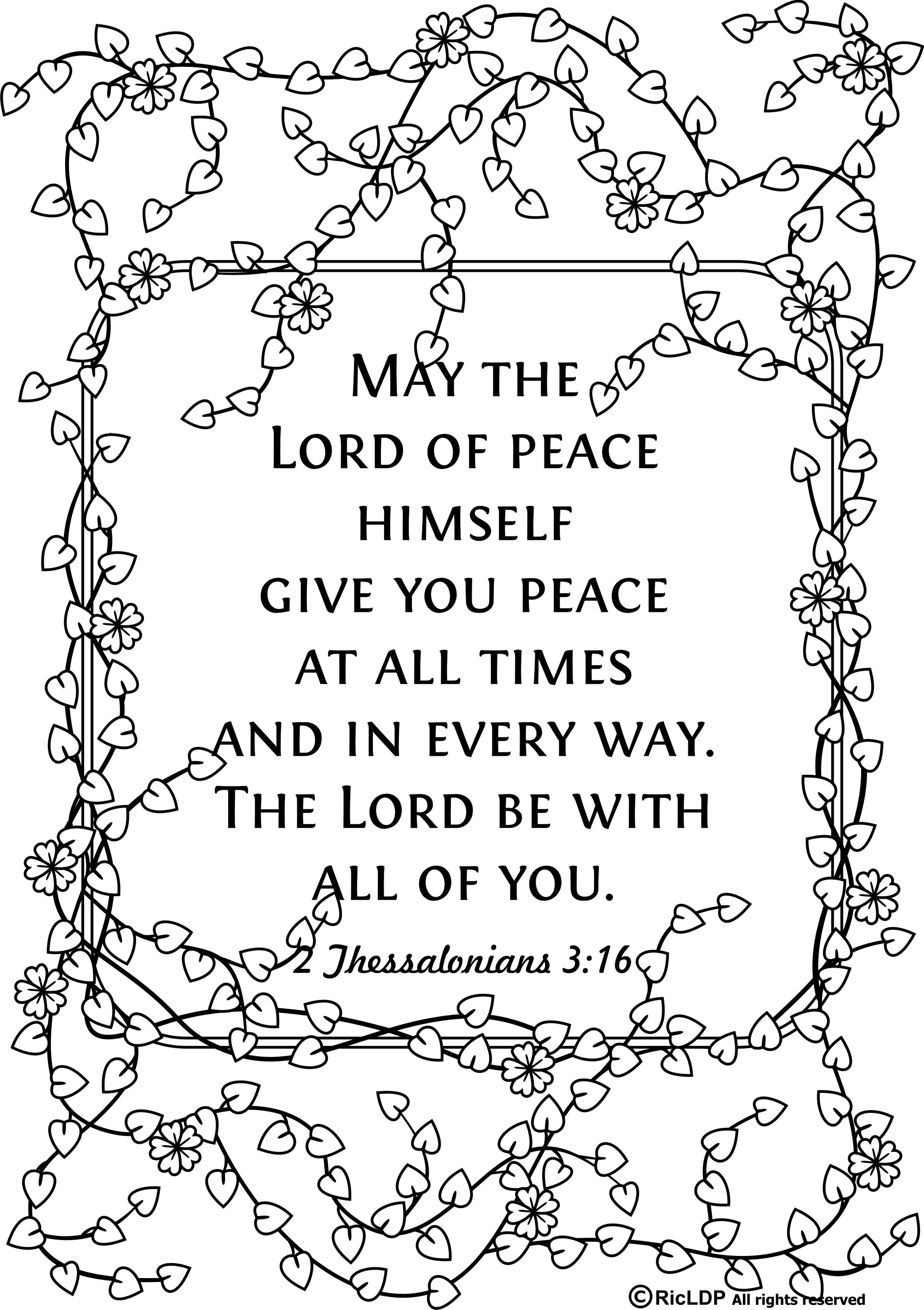 2086x2957 Unique Bible Verse For Adult Coloring Pages Kyv Design Printable