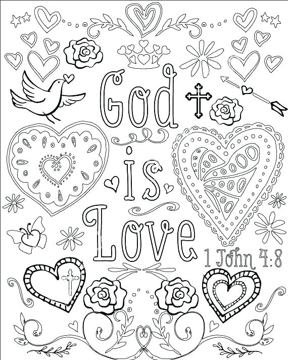 570x712 Christian Coloring Pages Christian Coloring Pictures Christian