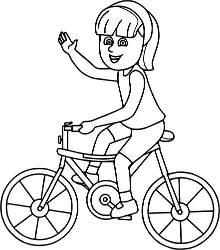 441x500 Bike Coloring Page Bicycle Coloring Pages Coloring Page Bicycle
