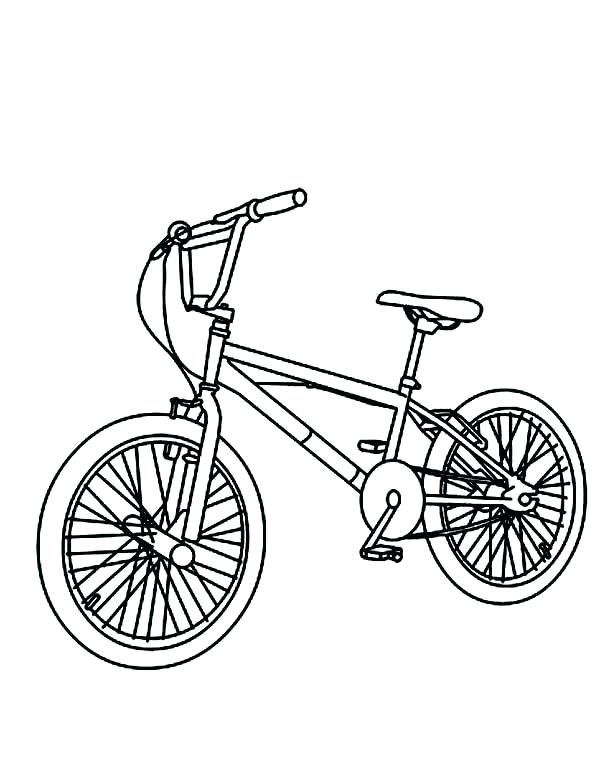 600x775 Bicycle Coloring Page Bicycle Coloring Page Unique Preschool Bike