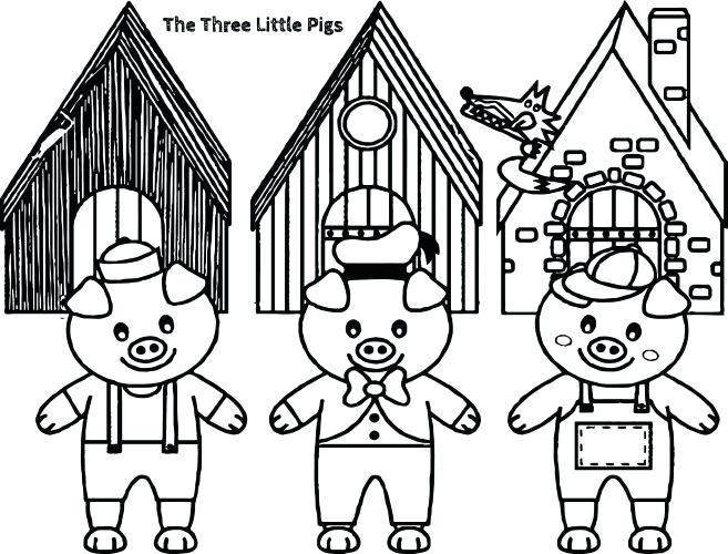 657x500 Big Bad Wolf Coloring Page Medium Size Of Pig Coloring Pages Three