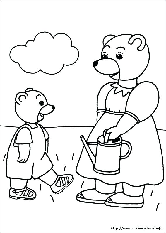 567x794 Big Bear Protects Little Coloring Page Free Printable In Pages