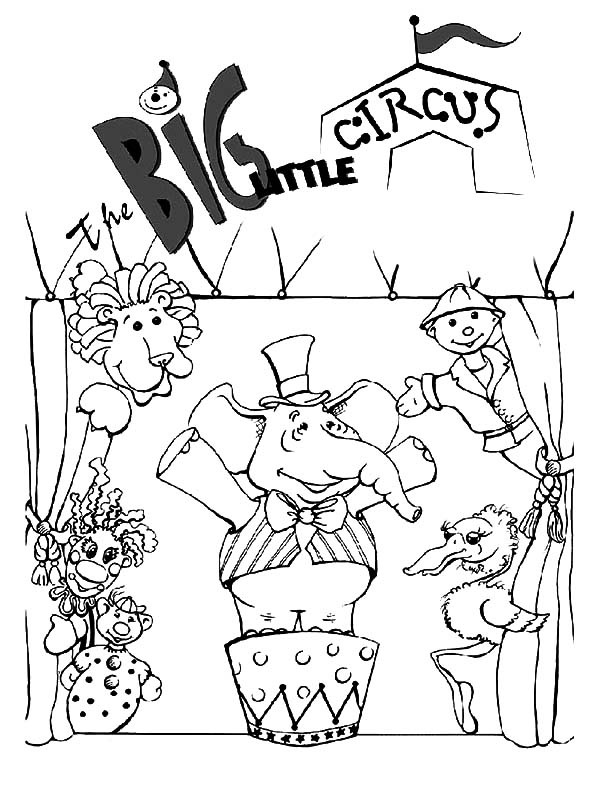 600x788 Big Little Circus Carnival Coloring Pages Best Place To Color