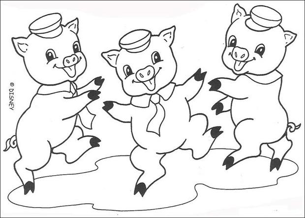 620x443 Big Bad Wolf Is Blowing Coloring Pages