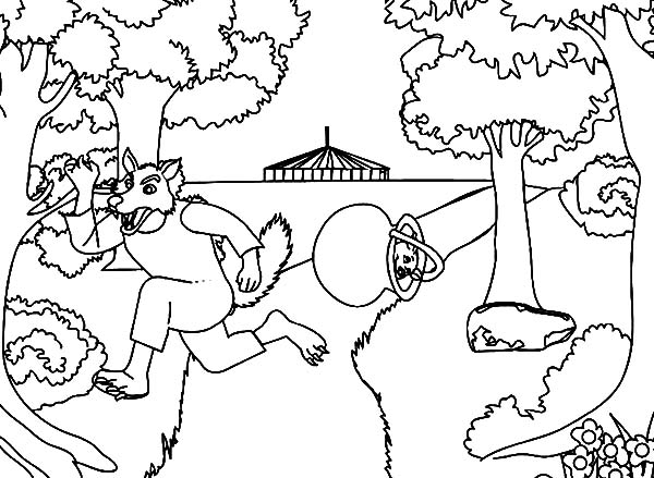 600x439 Three Little Pigs Enemy Big Bad Wolf Coloring Pages Batch Coloring