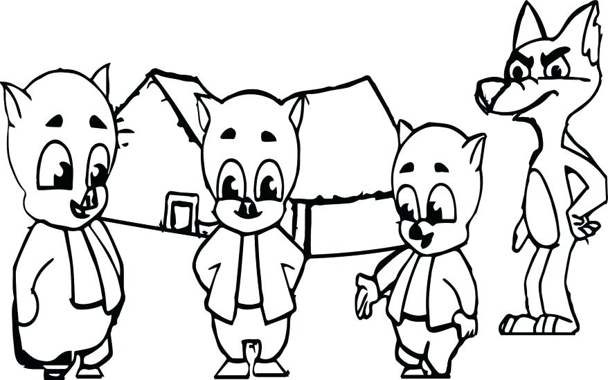 878x549 Big Bad Wolf Coloring Page Little Pigs And The Big Bad Wolf