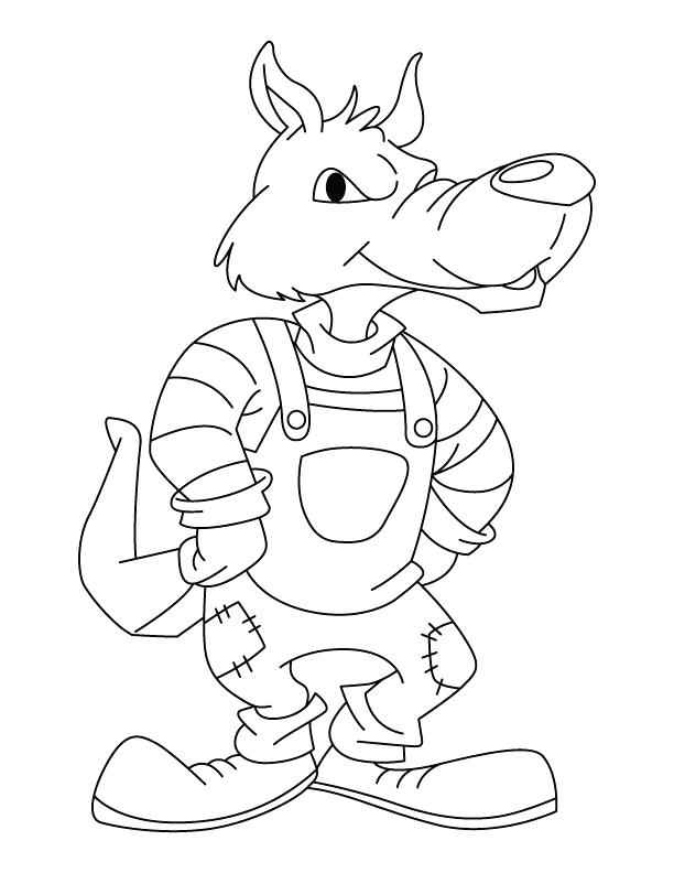 612x792 Wolf Pictures To Color Plus Super Wolf Coloring Page Big Bad Wolf