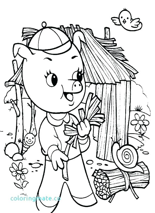 600x825 Big Bad Wolf Coloring Page