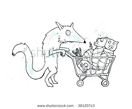 450x371 Big Bad Wolf Coloring Page Big Bad Wolf Coloring Page Free