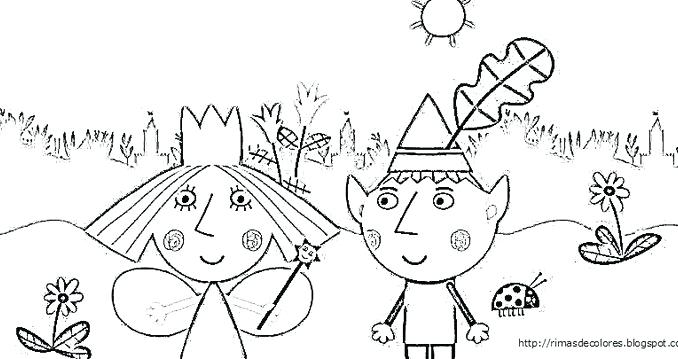 678x359 Ben And Holly Coloring Pages Holly Coloring Pages Big Page Free