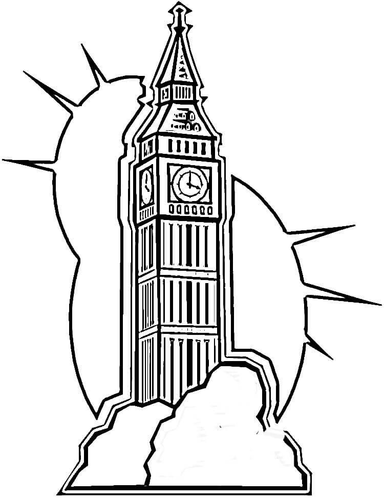 750x971 Big Ben In London United Kingdom Coloring Page