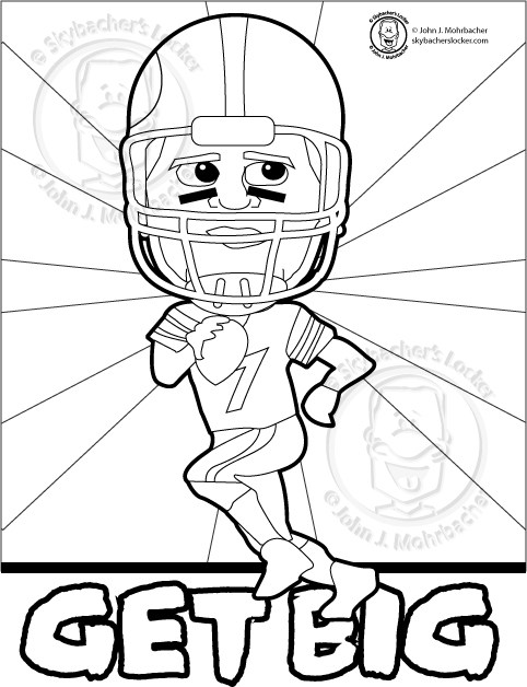 482x628 Another Big Ben Steelers Coloring Page Skybacher's Locker