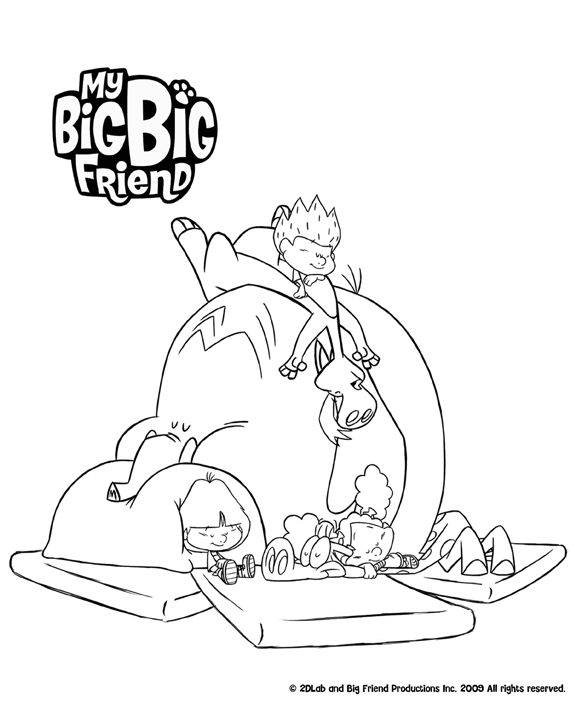 575x720 Big Big Friend Coloring Pages Best My Big Big Friend Images