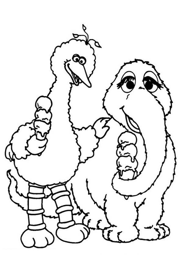 Big Bird Coloring Pages At Getdrawings Free Download