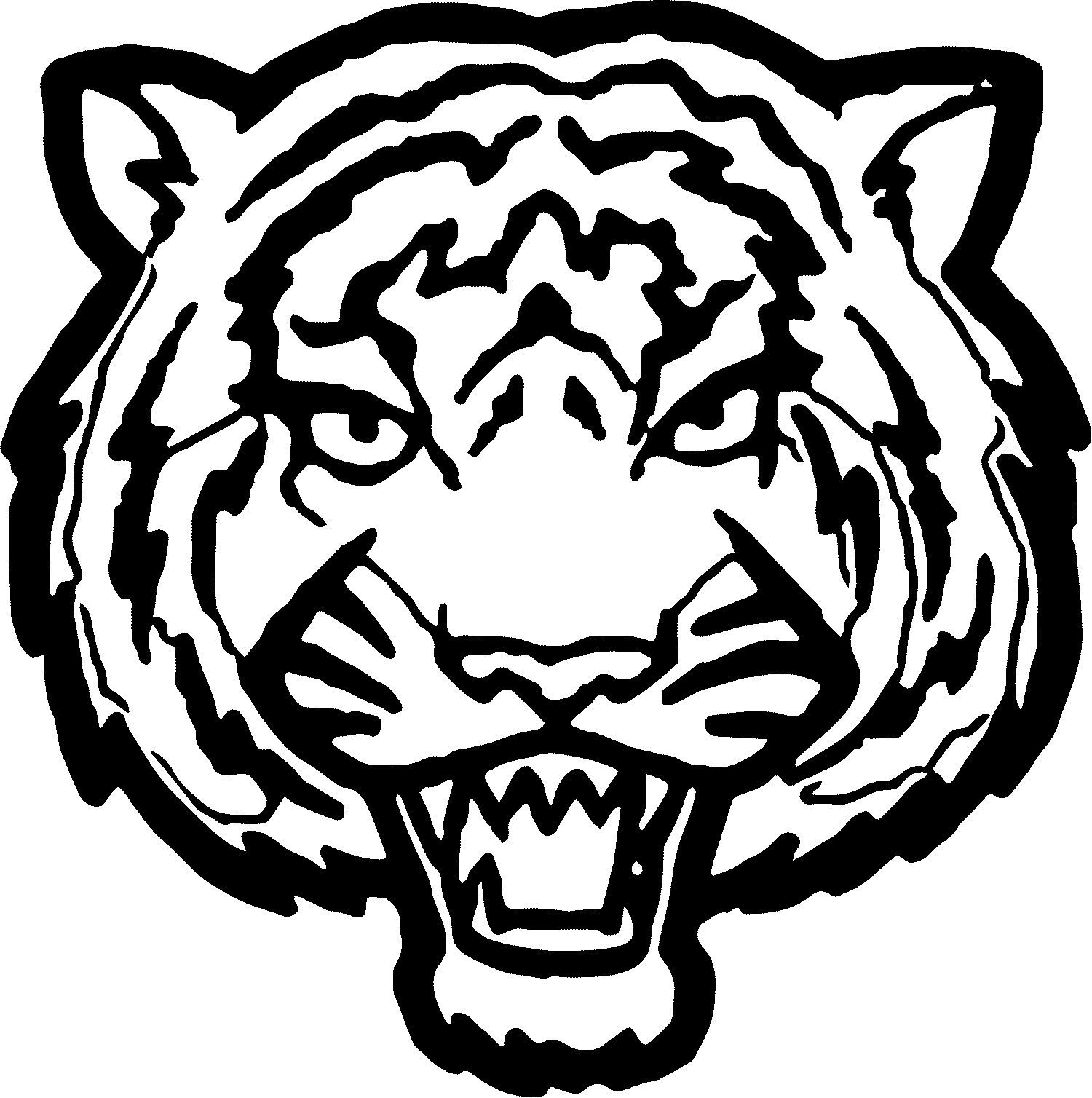 1500x1508 New Coloring Pages Of Tiger Face Copy Tiger Face Big Coloring Page