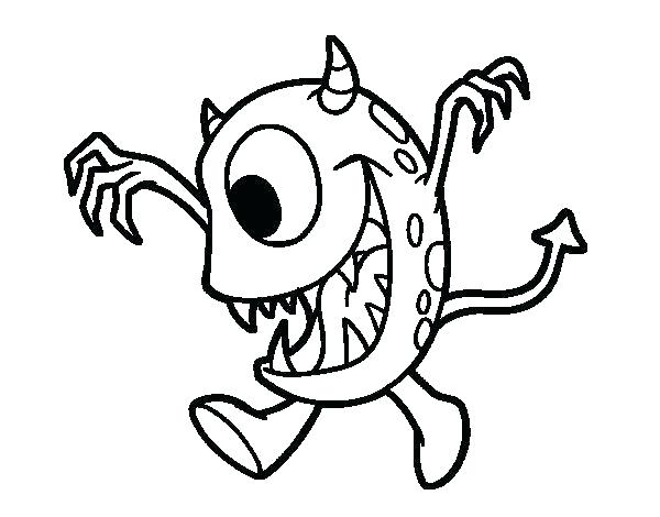 600x470 Coloring Pages Eye Page Monster With One Dogs Big Eyes