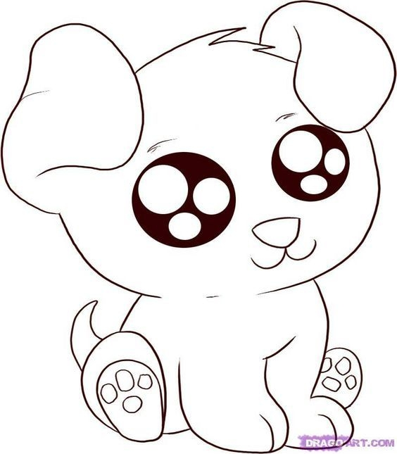 564x645 Cute Animals With Big Eyes Coloring Pages Anime Animals Animal