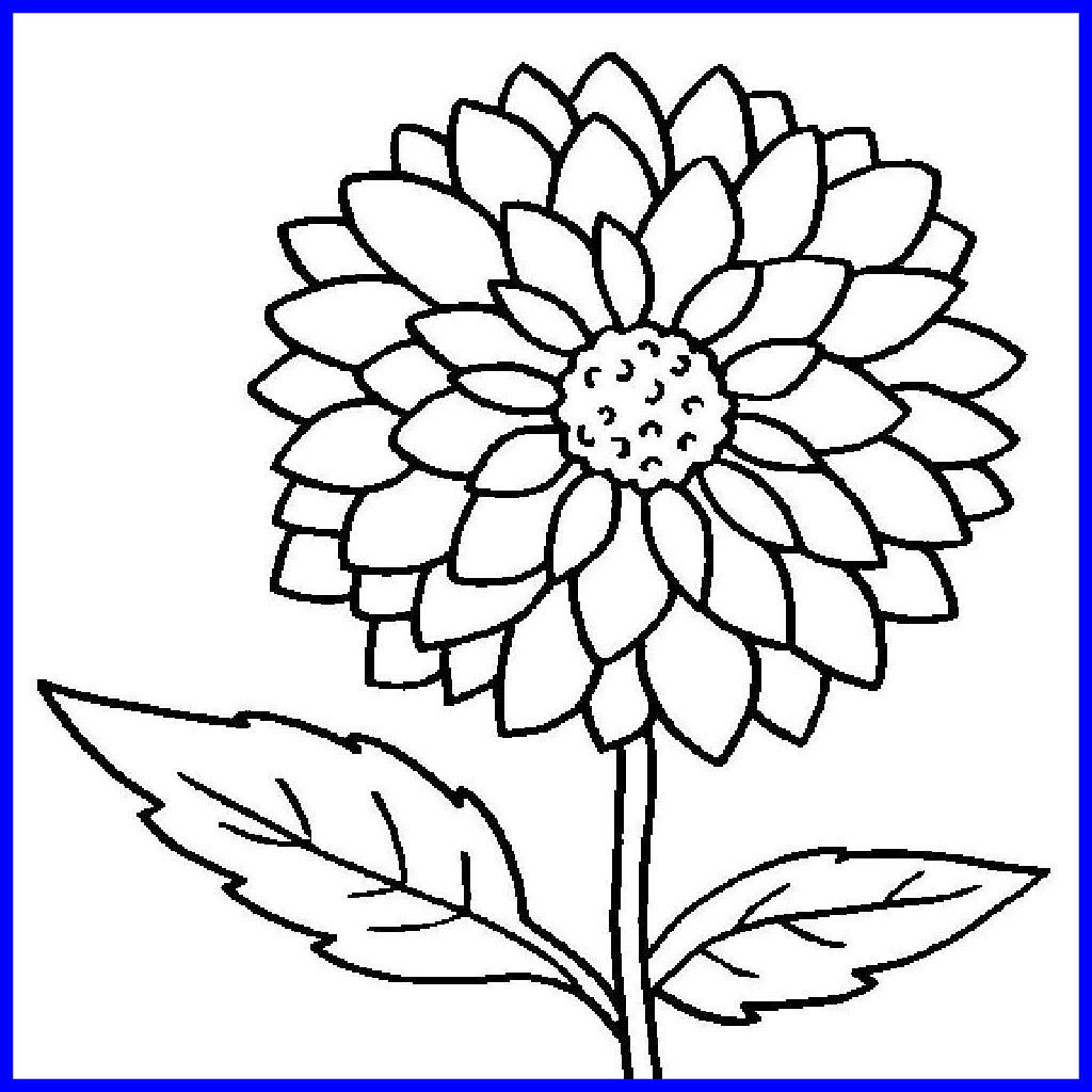 1024x1024 Fascinating Coloring Pages Large Bgcentrum Image For Flower