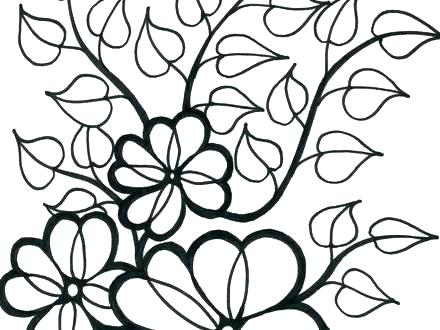 440x330 Flower Printable Coloring Pages Color Pages Of Flowers Adult