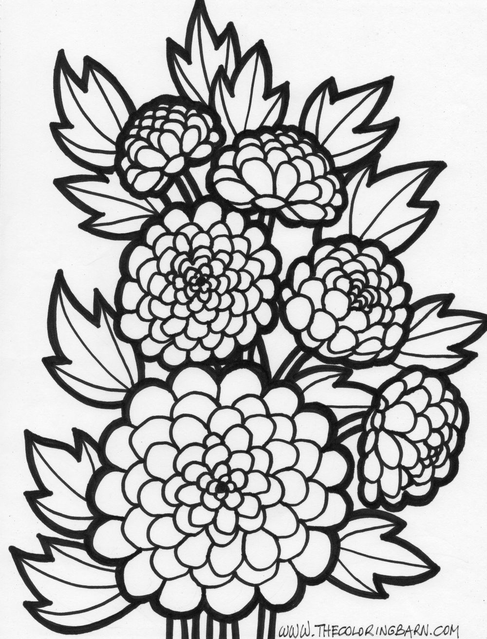 1000x1312 Flowers Coloring Pages