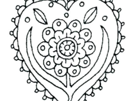 440x330 Printable Flower Coloring Pages For Adults Big Flower Coloring